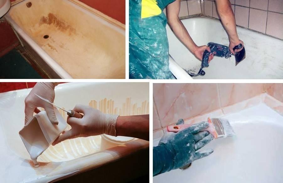 Покраска ванны своими руками с помощью эмали: пошаговое руководство по реставрации