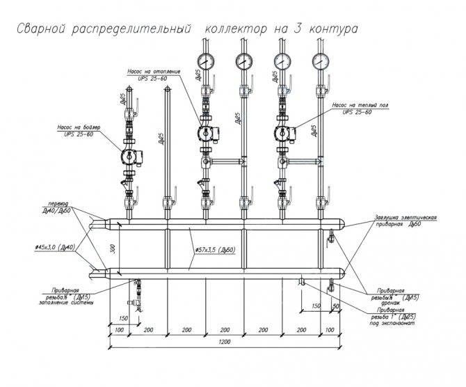 Распределительная гребенка системы отопления - всё об отоплении и кондиционировании