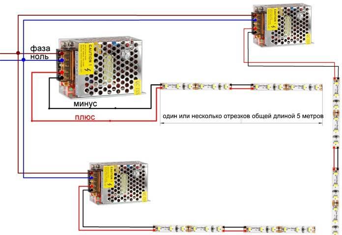 Как выбрать светодиодную ленту, блок и провода - ошибки подключения. какая лучше для кухни и потолка.