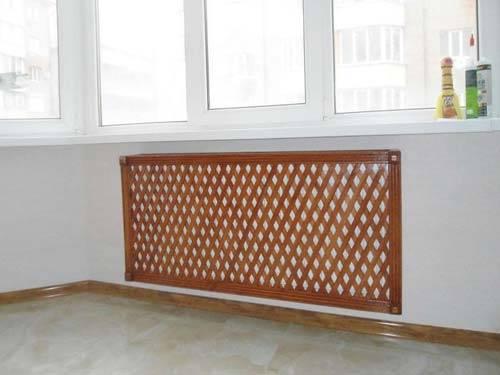 Радиаторная решетка на батарею, экран на радиатор отопления