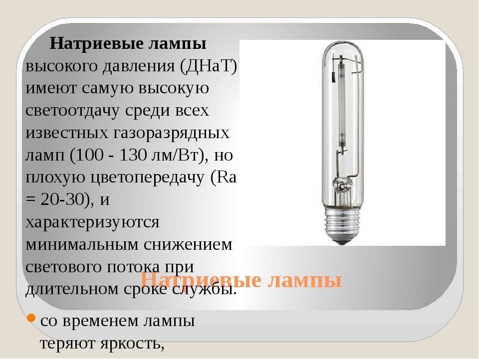 Газоразрядные лампы: обзор 9 самых популярных видов