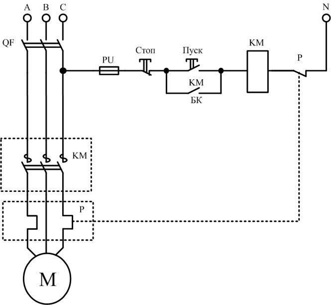 Схема подключения магнитного пускателя на 220 в, 380 в