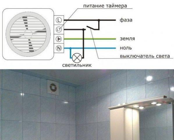 Правильный монтаж вентилятора в санузле