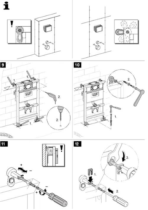 Установка инсталляции унитаза – варианты системы, руководство по монтажу