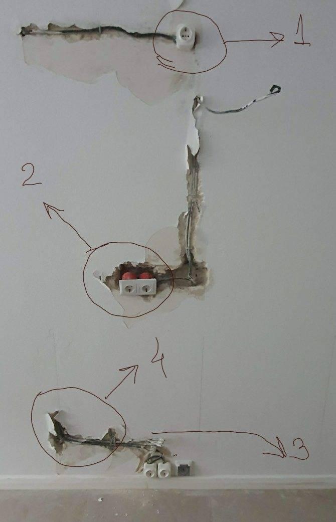 Как заменить проводку без штробления стен