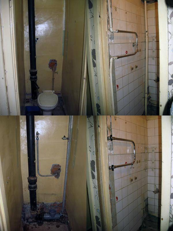 Замена канализации в квартире: инструктаж по замене стояка и труб своими руками