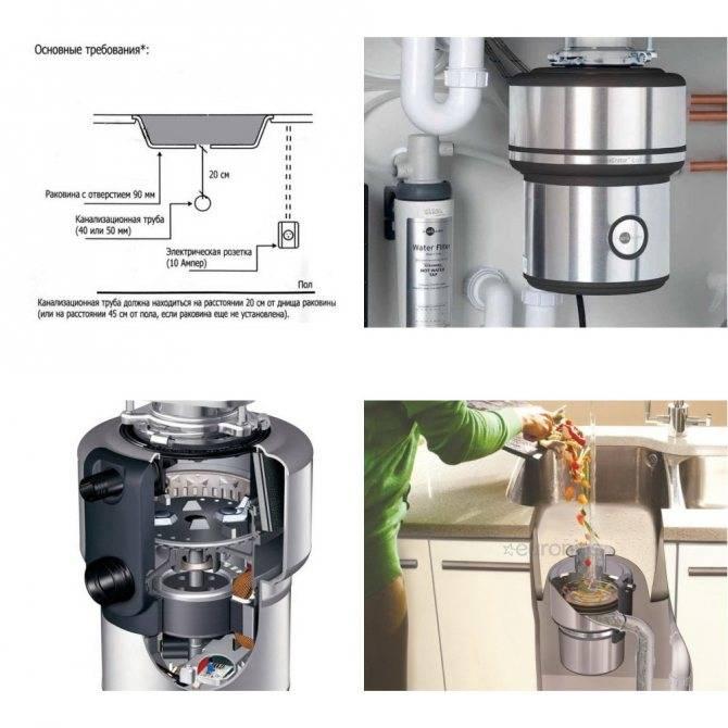 Измельчитель мусора для раковины: инструкция по подключению - точка j