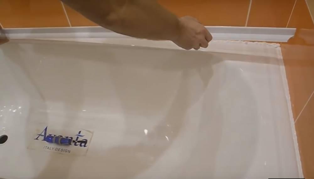 Бордюр для ванны: виды, материалы, монтаж своими руками