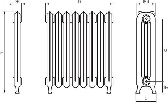 Вес секции чугунного радиатора мс 140 - всё об отоплении