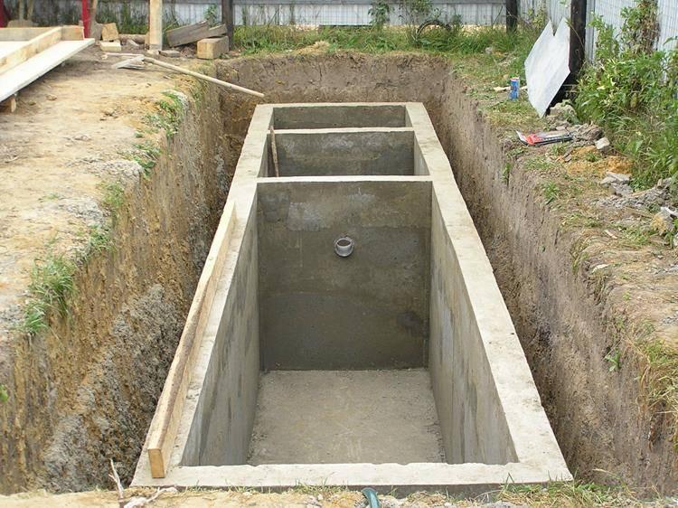 » как построить бетонный септик своими руками