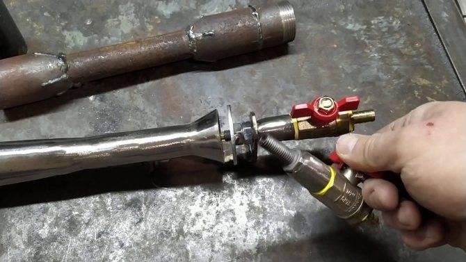 Инжекционная газовая горелка чертеж