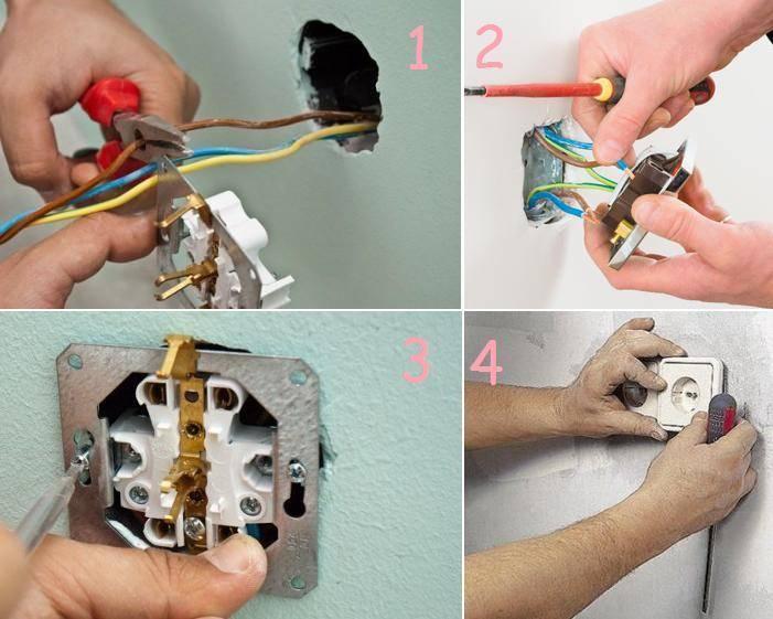 Как подключить розетку и выключатель от одного провода