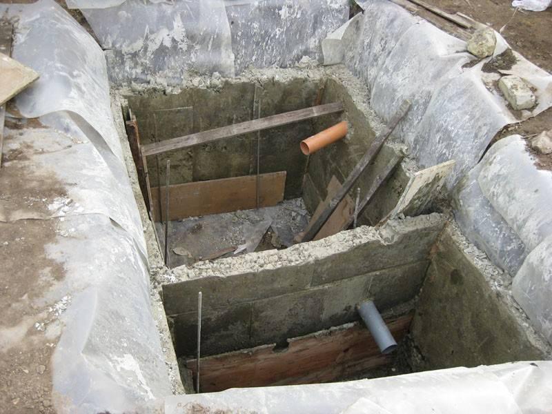 Строительство монолитного бетонного септика без откачки для дачи или частного дома