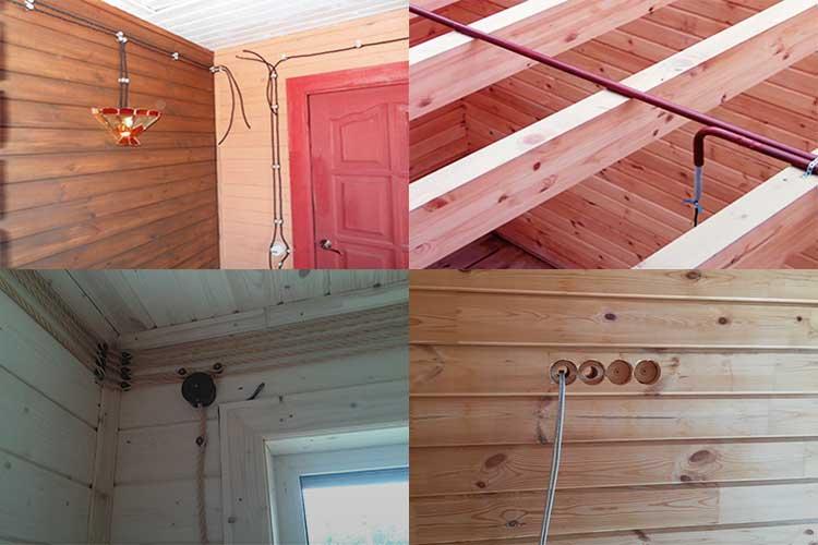 Электропроводка в деревянном доме по всем правилам