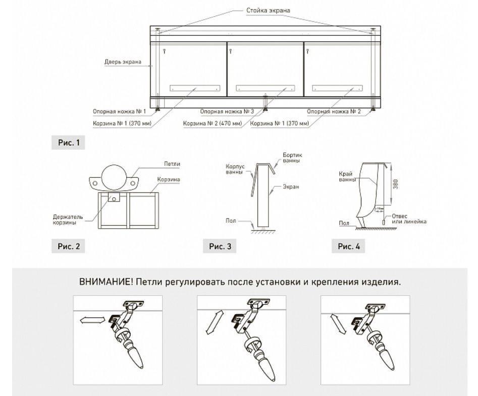 Делаем раздвижной экран под ванну своими руками - пошаговая инструкция