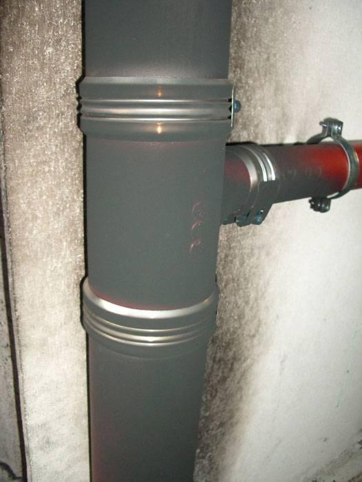 Переход с чугуна на пластик при монтаже канализационных трубопроводов