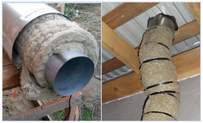 Утепление трубы дымохода: как утеплить в зависимости от материала
