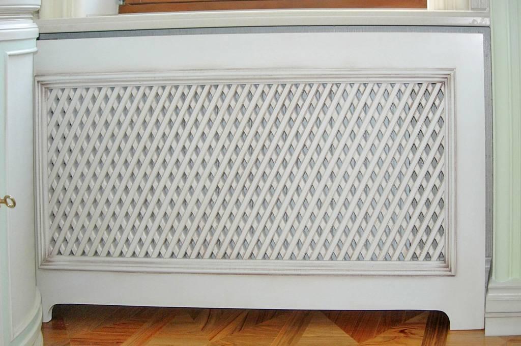 Декоративные решетки на чугунные радиаторы отопления: основные требования к конструкции, виды и материалы