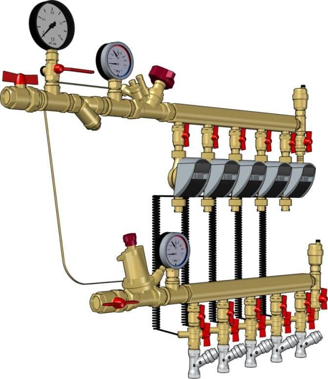 Распределительная гребенка системы отопления: как сделать своими руками и установить