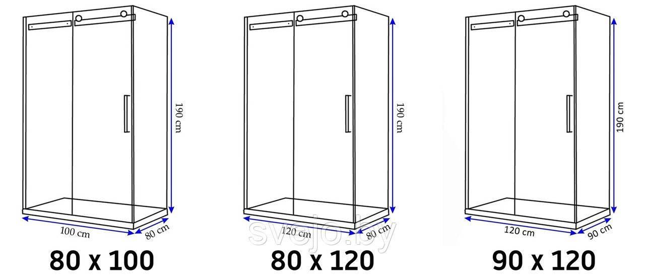 Типовые размеры душевых кабин: стандартные и оптимальные размеры - «интерьер ванной» » «дизайна интерьера»