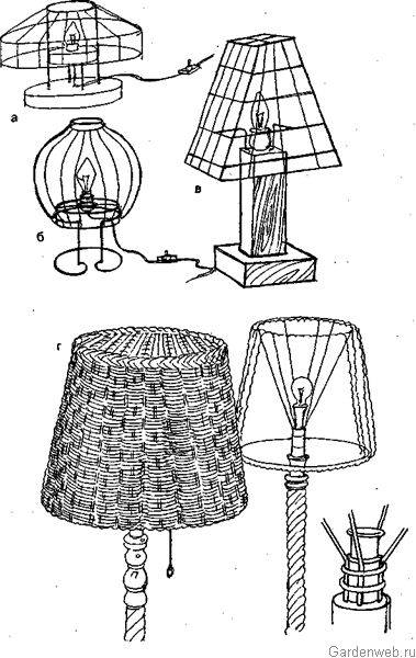 Абажуры для настольных ламп своими руками: описание со схемами, пошаговая инструкция и рекомендации :: syl.ru