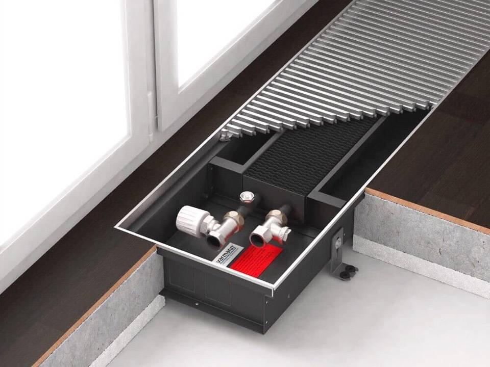 Напольные конвекторы отопления водяные - преимущества, виды, способ монтажа