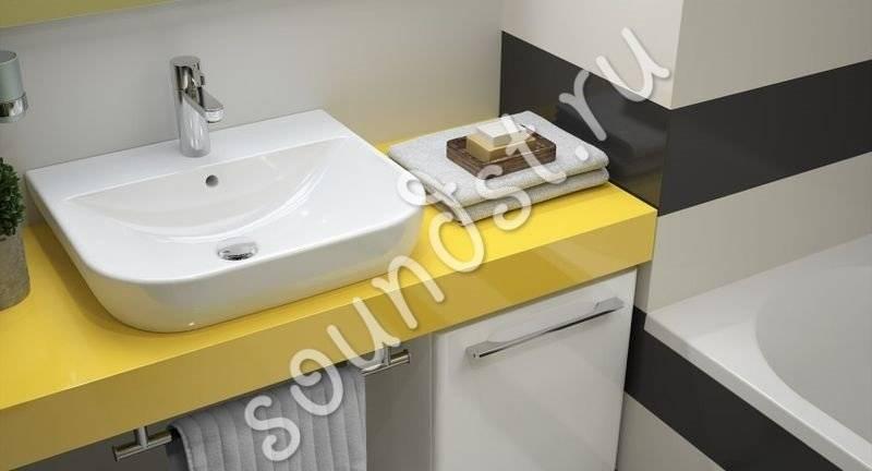 Раковина, встраиваемая в столешницу в ванной: как выбрать и установить (+ фото)