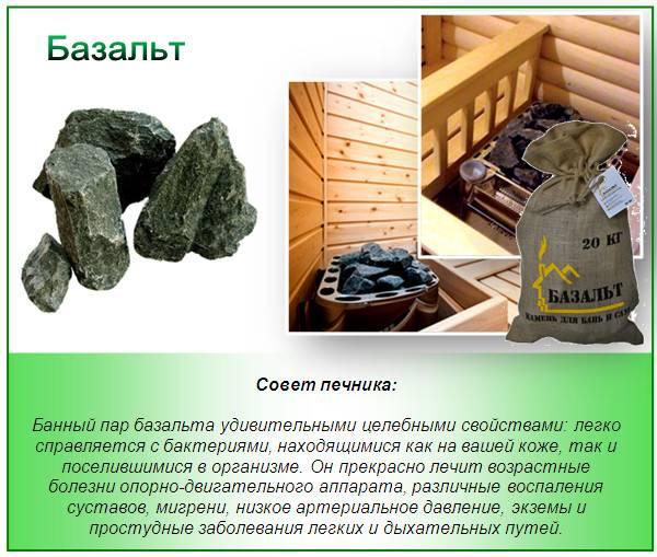 Как выбрать камни для бани — какие лучше использовать в парной