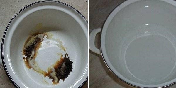 Как и чем можно очистить внутри и снаружи пригоревшую кастрюлю?