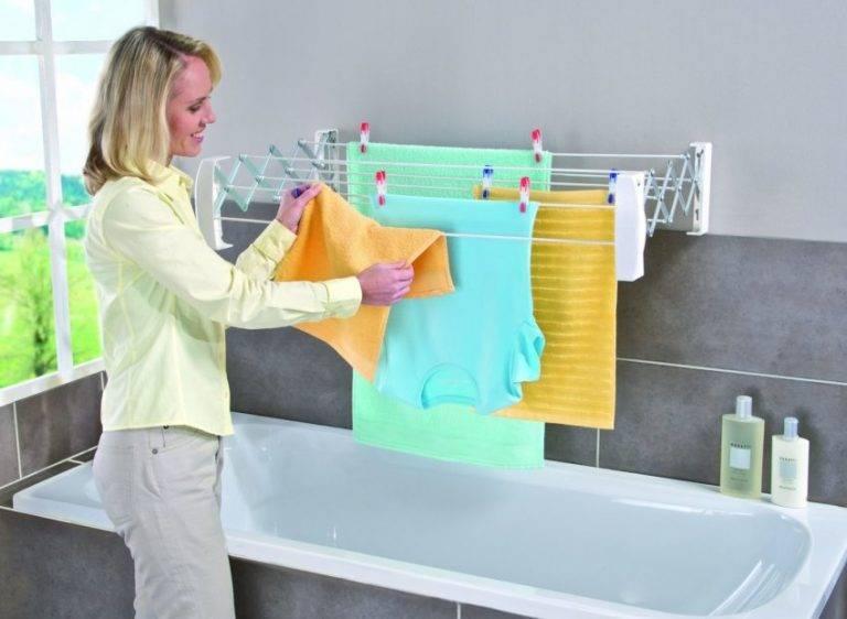 Где сушить белье, если у вас нет балкона