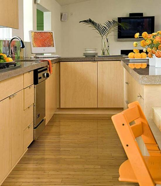 Варианты отделки стен, потолка и пола на кухне