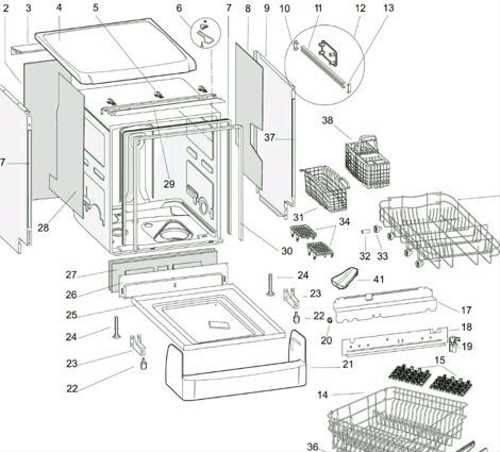 Как работает посудомоечная машина-основные узлы и принцип работы