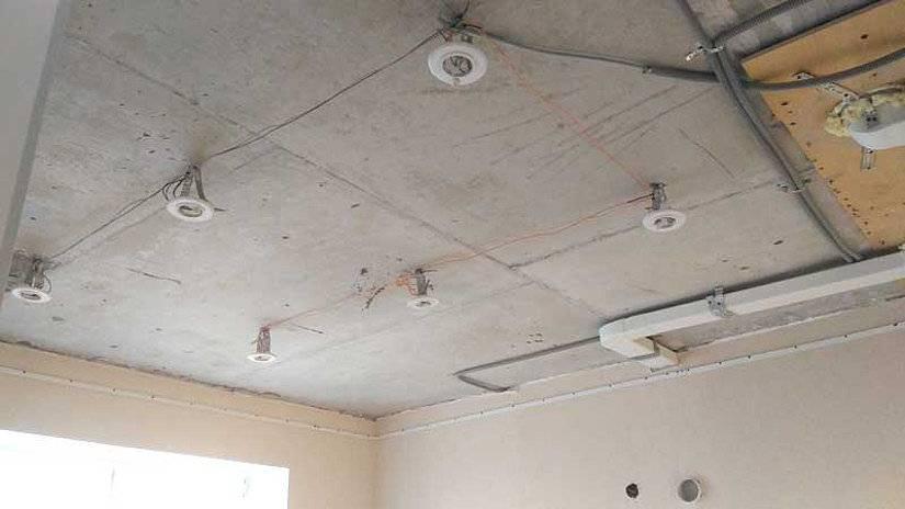 Как крепить люстру к натяжному потолку, если он уже натянут
