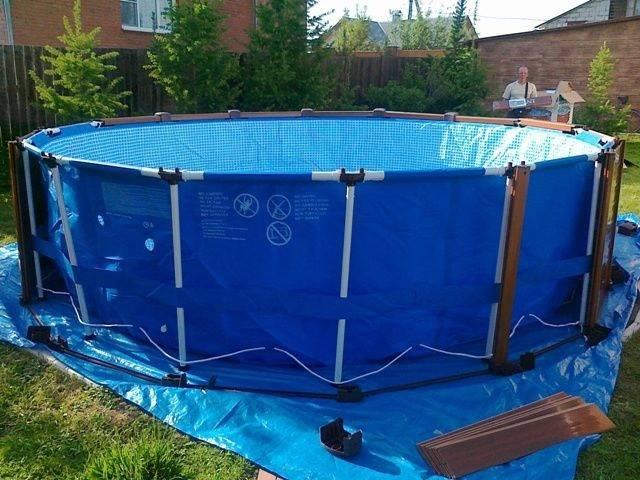 Как установить каркасный бассейн на даче— пошаговая инструкция