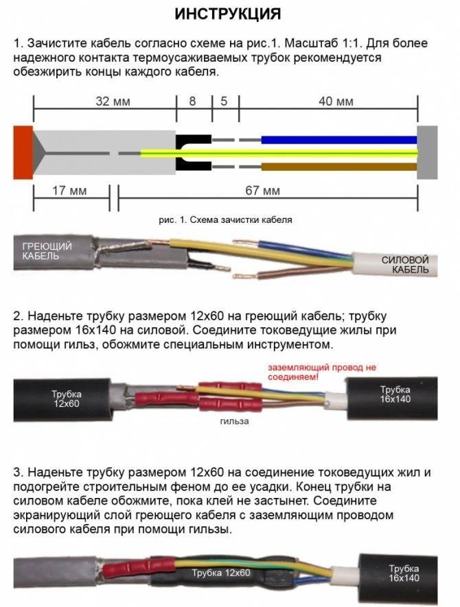 Монтаж греющего кабеля внутри трубы: инструкции по установке + советы по выбору