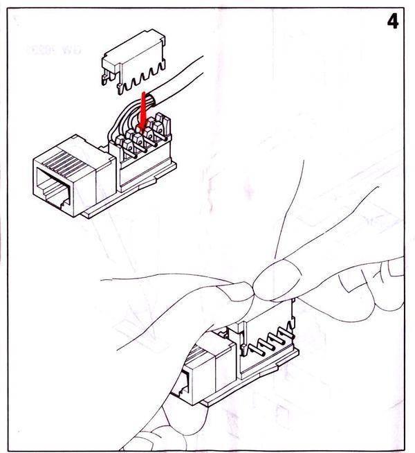 Как подключить телефонную розетку к двухжильному проводу