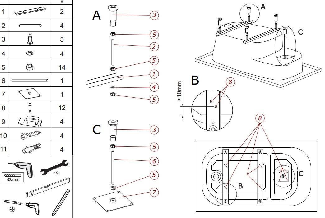 Установка ванны своими руками: простая инструкция для начинающих (33 фото)   дизайн и интерьер ванной комнаты