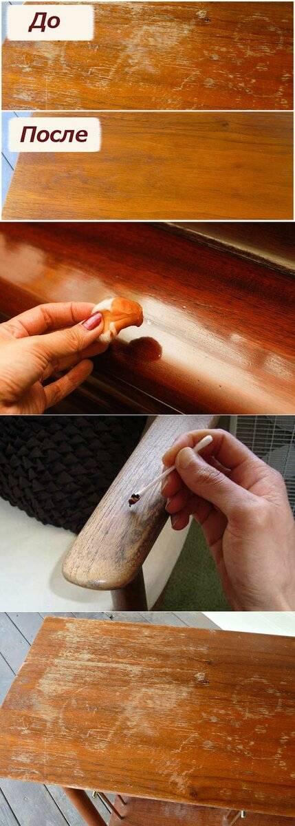 Как убрать царапины на полированной мебели? - папа карло