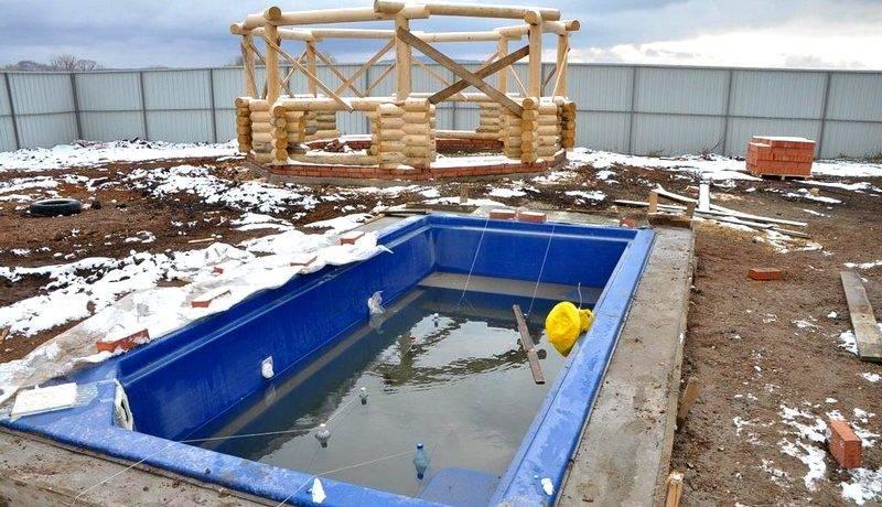 Можно ли оставлять каркасный бассейн на зиму?