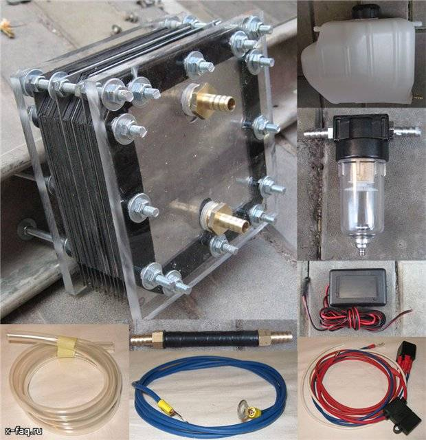 Как сделать по схеме сухой генератор водорода своими руками?