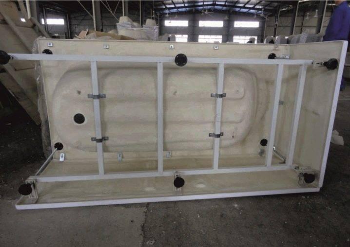 Установка акриловой ванны под плитку