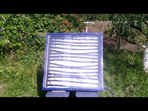 Солнечный коллектор из металлопластиковых труб