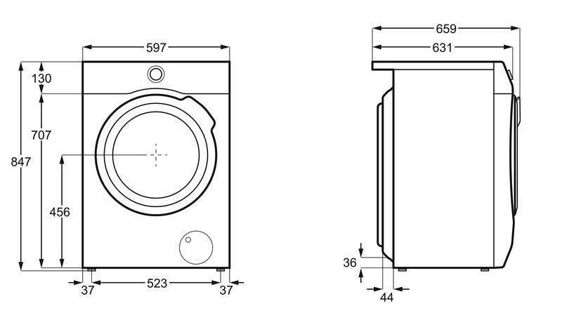 Стандарты ширины и высоты стиральных машин, размеры разных стиральных машин