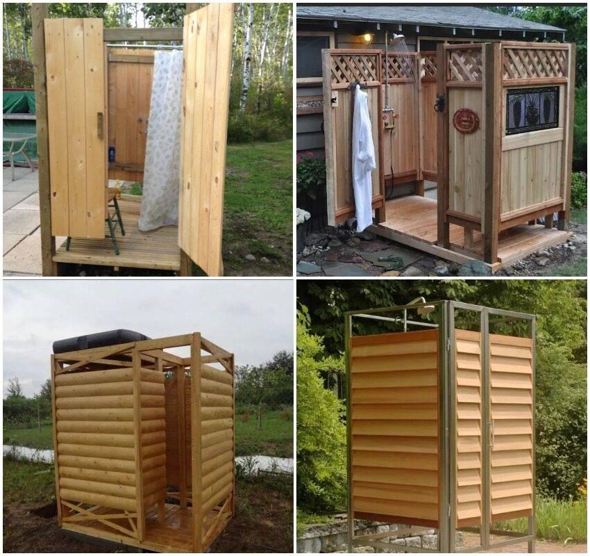 Деревянные душевые кабины для дачи: строительство летнего душа своими руками