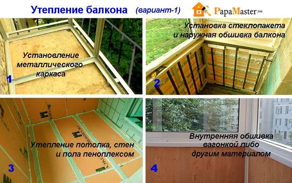 Утепление балкона своими руками: чем лучше и как правильно утеплить балкон изнутри