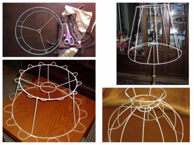 Каркас для абажура своими руками: выбор материалов, определение размеров, порядок изготовления, фото. как сделать абажур своими руками
