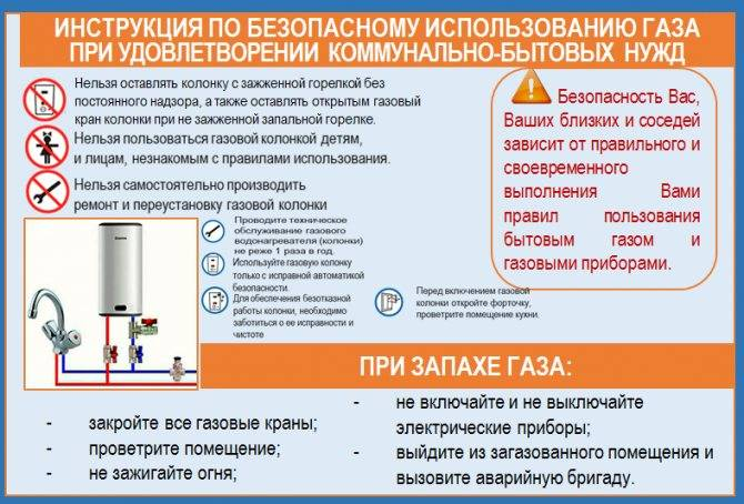 Памятка на тему: «правила пользования газовыми и электрическими приборами»