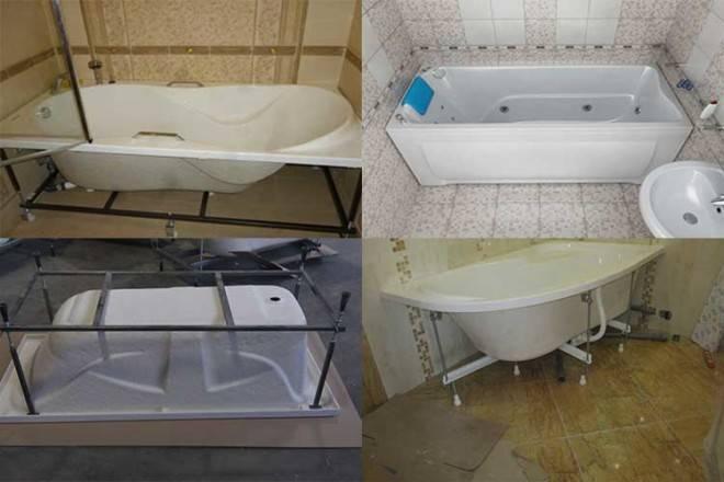 Установка акриловой ванны на каркас своими руками: подробная пошаговая инструкция