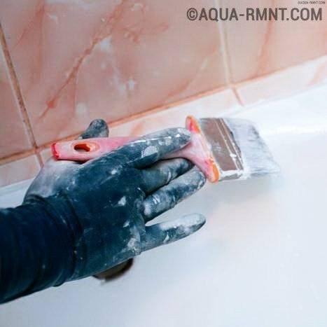 Восстановление ванны жидким акрилом: ремонт эмалевого покрытия своими руками
