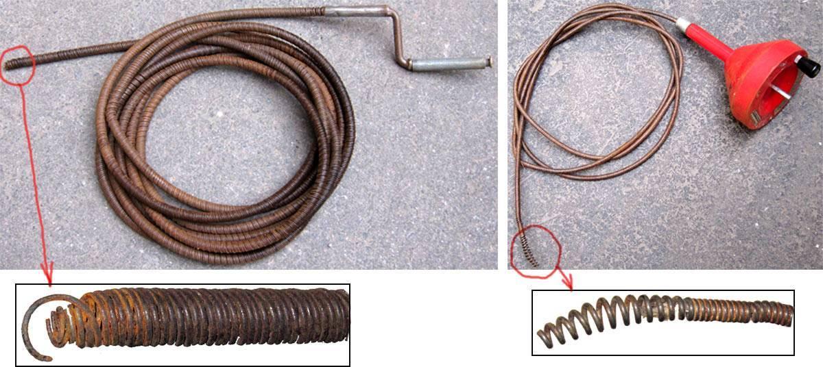 Как правильно пользоваться сантехническим тросом для чистки труб